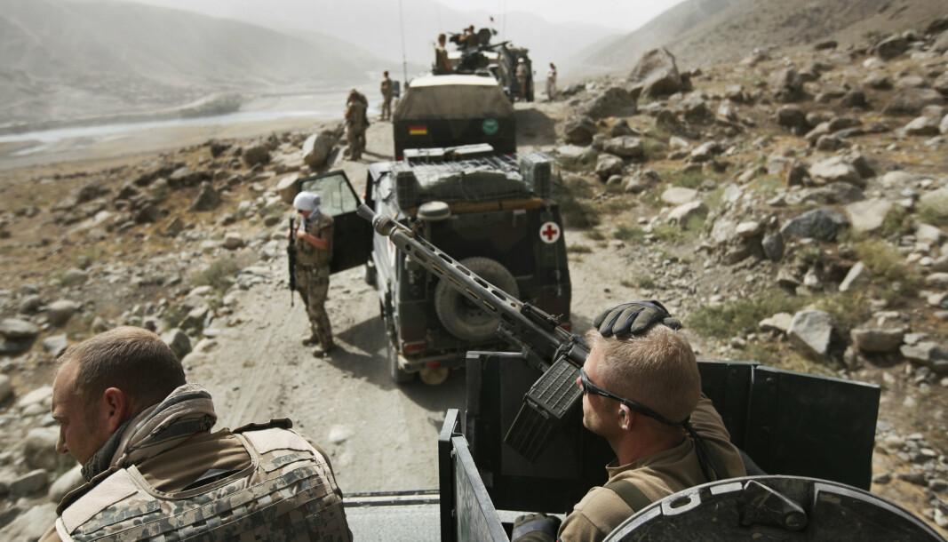 ASYL: Afghanske Bundeswehr-hjelpere har ankommet Tyskland. På bildet ser vi Bundeswehr-soldater på patrulje i Nord-Afghanistan i 2008.