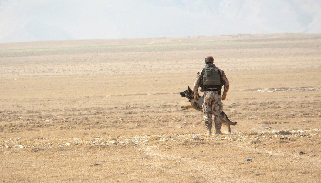 AFGHANISTAN: Norsk soldat under en øvelse i Afghanistan.