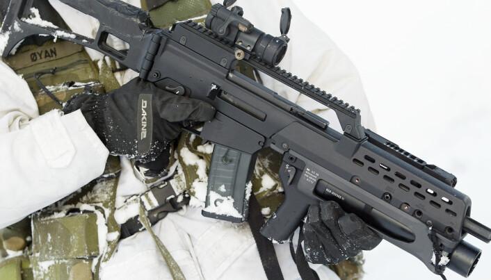 AUTOMATGEVÆR: SS109 brukes blant annet i Heckler & Koch G36 automatgevær.
