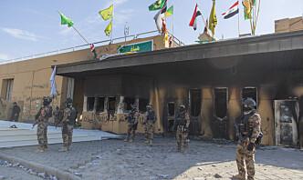 Rakettangrep mot USAs ambassade i Bagdad