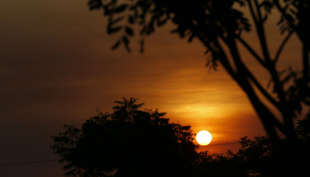 NILEN: Solnedgang over Nilen ved Malakal i Sør-Sudan.