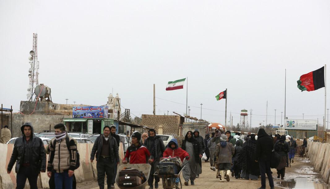 GRENSEOVERGANG: Taliban kontrollerer nå grenseovergangen Islam Qala mellom Afghanistan og Iran. Dette bildet ble tatt i februar i år.