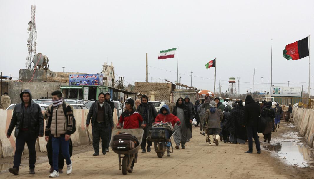 UTVIDET: Biden-administrasjonen kunngjorde mandag at det afghanske hjelpeprogrammet for personer i utsatte stillinger blir utvidet. Bildet viser grensen mellom Afghanistan og Iran.