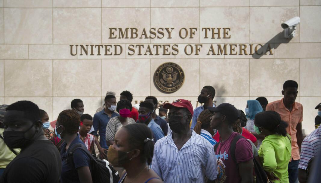 BISTAND: USA sender en ekspertgruppe til Haiti for å bistå etter drapet på president Jovenel Moïse.