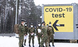 Null koronasmitte i Hæren