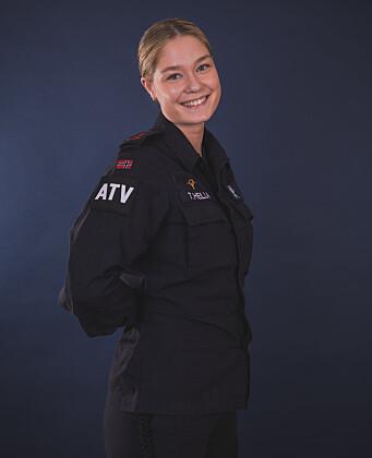 HTV SJØFORSVARET: Frida Sofie Træland Hella gleder seg til et nært samarbeid med både vernepliktige og ledelse i året som HTV.