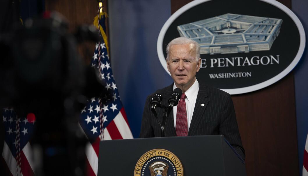LØSNING: Presidenten Joe Biden har blitt presset til å komme opp med en løsning for de utsatte afghanere som har hjulpet USA.