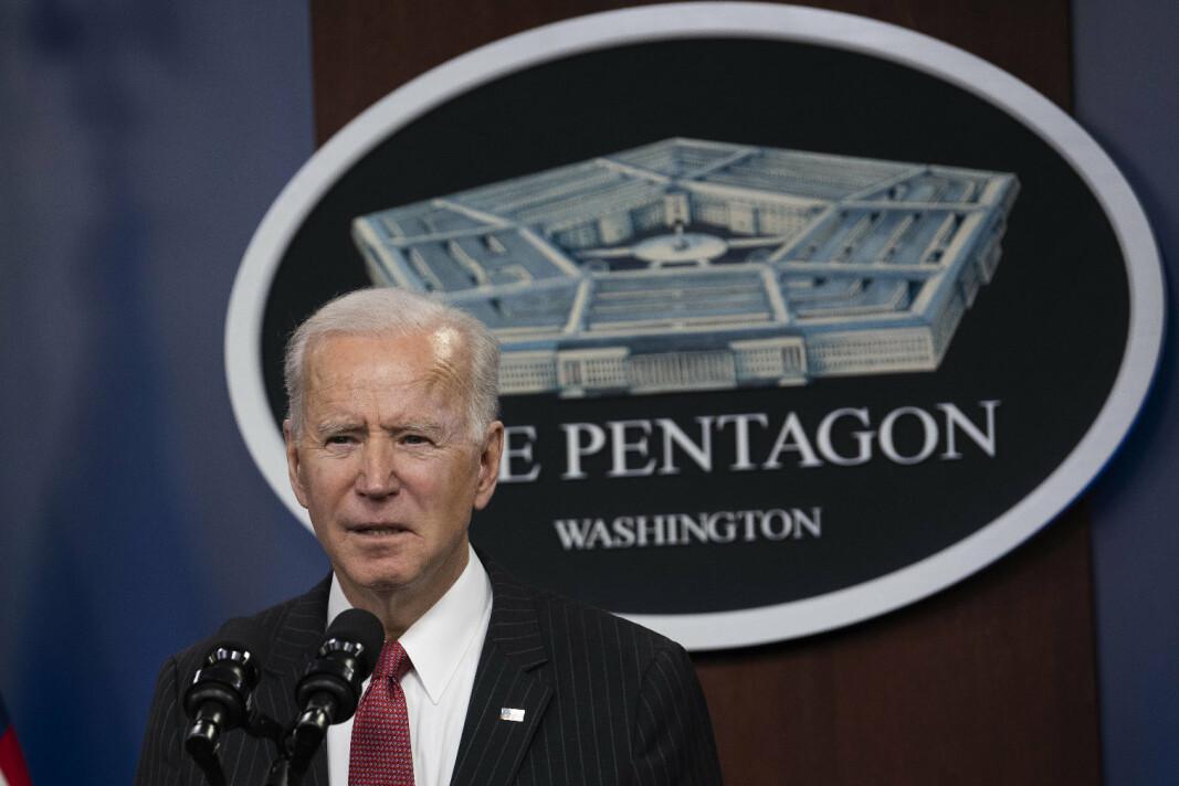 BUDSJET: USAs president Joe Biden har lagt frem forsvarsbudsjettet for 2022.