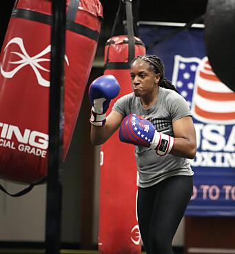 OVERSERSJANT: Naomi Graham jobber til vanlig i den amerikanske hæren, men skal delta på OL i boksing.