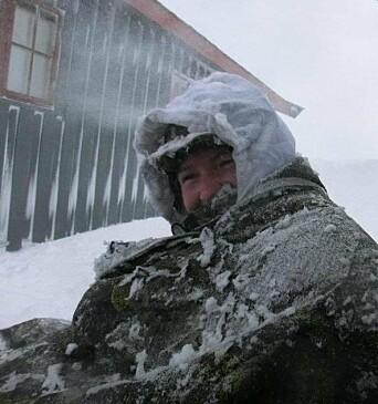 Line Arras Naustvik på vinterøvelse i 2012.