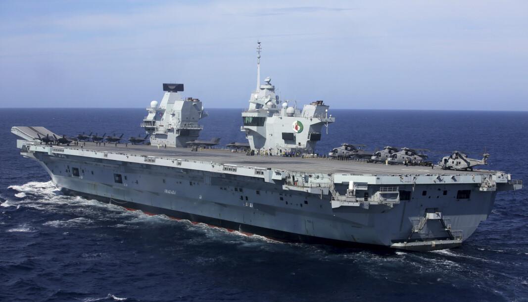 SMITTE: HMS Queen Elizabeth har smitte om bord etter et stopp i Kypros.