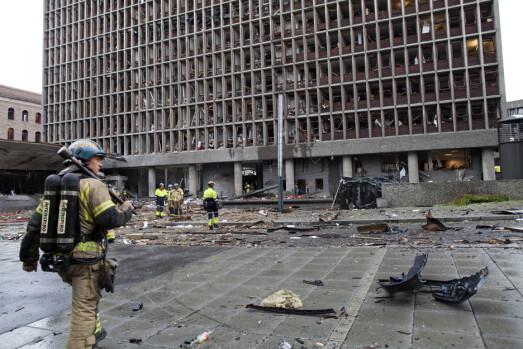 SKADER: Den hjemmelaget bombe hadde en sprengkraft tilsvarende 300-400 kilo TNT. Åtte mennesker mistet livet og mange flere ble skadet i angrepet.