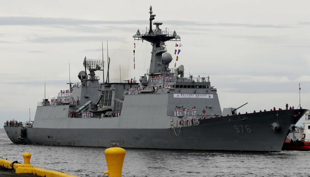 KORONA: Flere hundre ombord på et sørkoreansk krigsskip er smittet av korona.