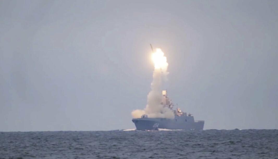 KRYSSERMISSIL: Russland har testet et Zircon hypersonisk kryssermissil som har en hastighet på sju ganger lydens hastighet.