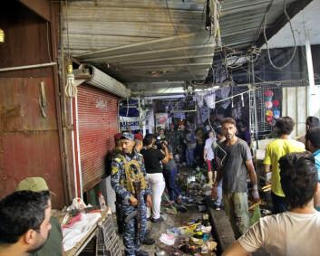 Bombeangrep mot marked i Bagdad – minst 28 drept