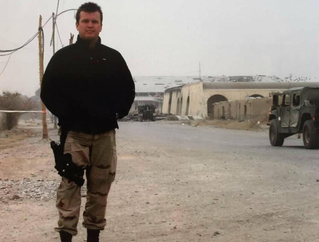 AFGHANISTAN: Kjetil Anders Hatlebrekke i Kandahar i 2002. I Afghanistan jobbet han sammen med norske spesialsoldater.