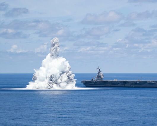 Sjokktestet USAs nye hangarskip USS Gerald Ford