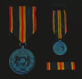 MEDALJEN: Hatlebrekkes fortenstmedalje.