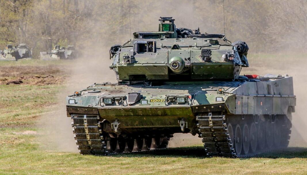 LEOPARD: En Leopard stridsvogn fra 1994. Den svenske hæren har i dag 120 stykker.