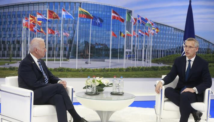MØTTE BIDEN: Stoltenberg møtte USAs president Joe Biden tidligere i år.