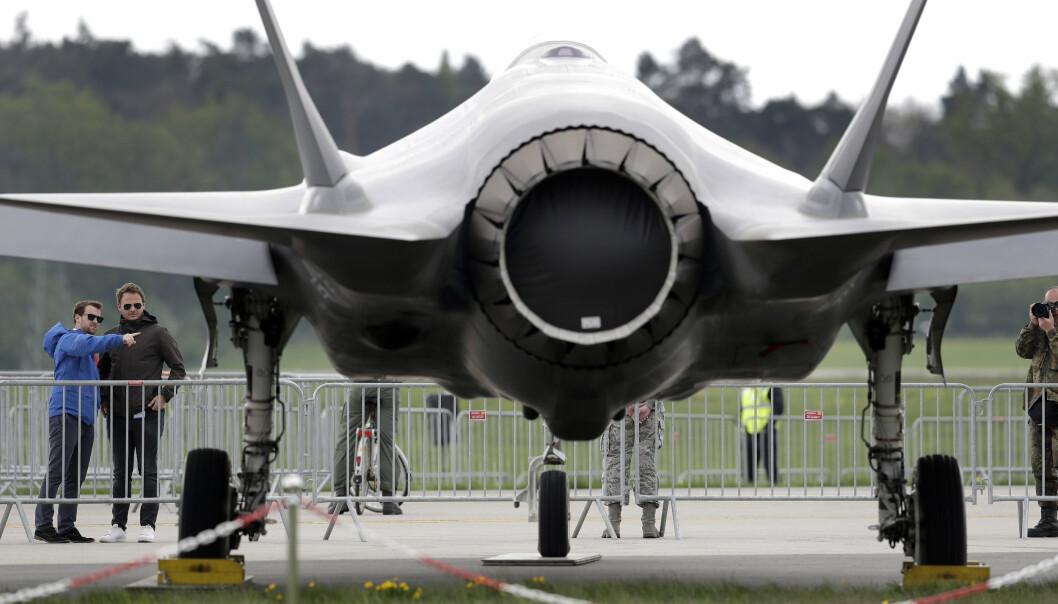 FLYMESSE: Lockheed Martin F-35 på en flymesse i Berlinn i 2018.