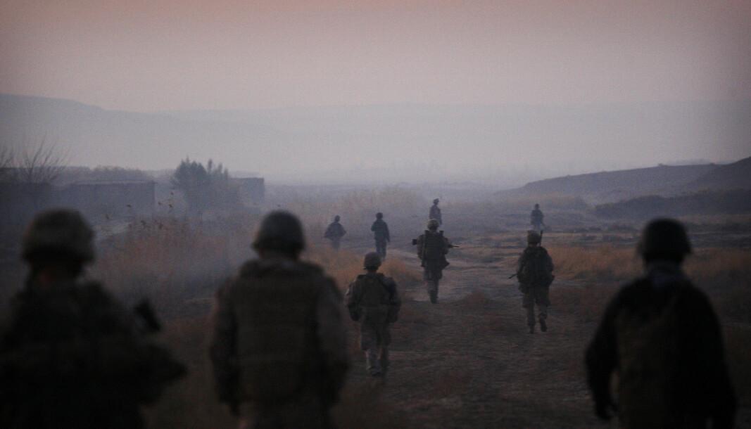 PÅ FLUKT: 46 afghanske soldater får beskyttelse av Pakistan etter utallige offensiver fra Taliban langs grensen.