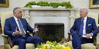 Biden setter stopper for amerikanske kampoperasjoner i Irak