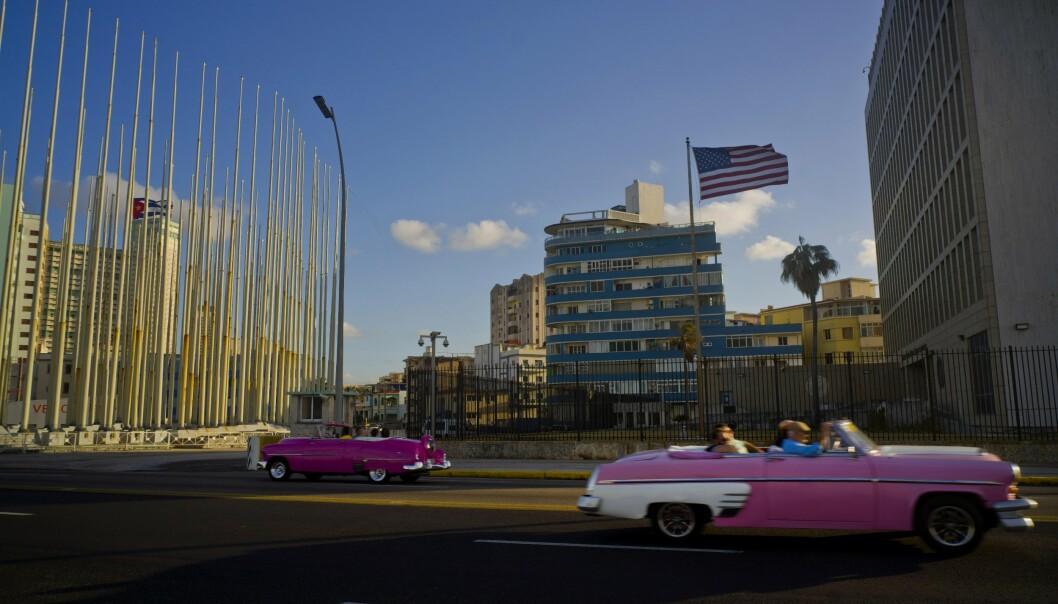 AMBASSADE: Havanna-syndromet ble først lagt merke til blant ansatte på den amerikanske ambassaden i Cubas hovedstad Havanna.
