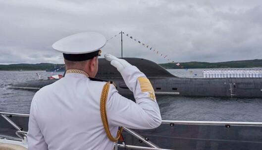 KOLA: Fra paraden i Severomorsk på Kola-halvøya.