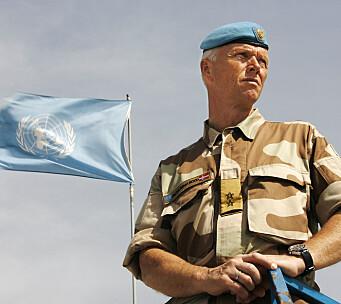 SJEF: Robert Mood har vært sjef for flere avdelinger. Her som sjef for UNTSO, FNs eldste fredsbevarende operasjon.
