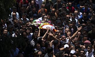Palestiner skutt og drept etter begravelse på Vestbredden