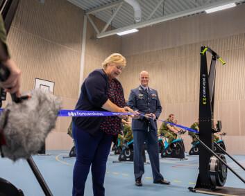 Statsministeren åpnet nytt idrettssenter på Ørland