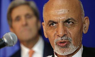 Afghanistans president gir USA skylda for landets sikkerhetssituasjon