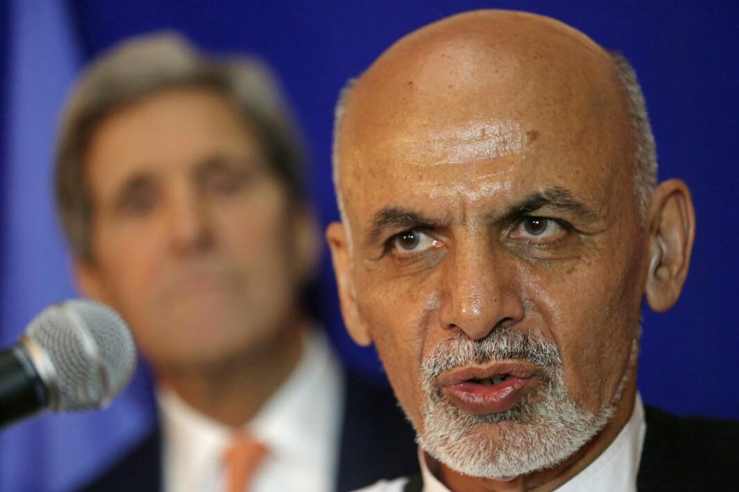 SKYLD: Afghanistans president Ashraf Ghani Ahmadzai mener det er USA sin skyld at landet befinner seg i den sikkerhetssituasjonen de er i nå.