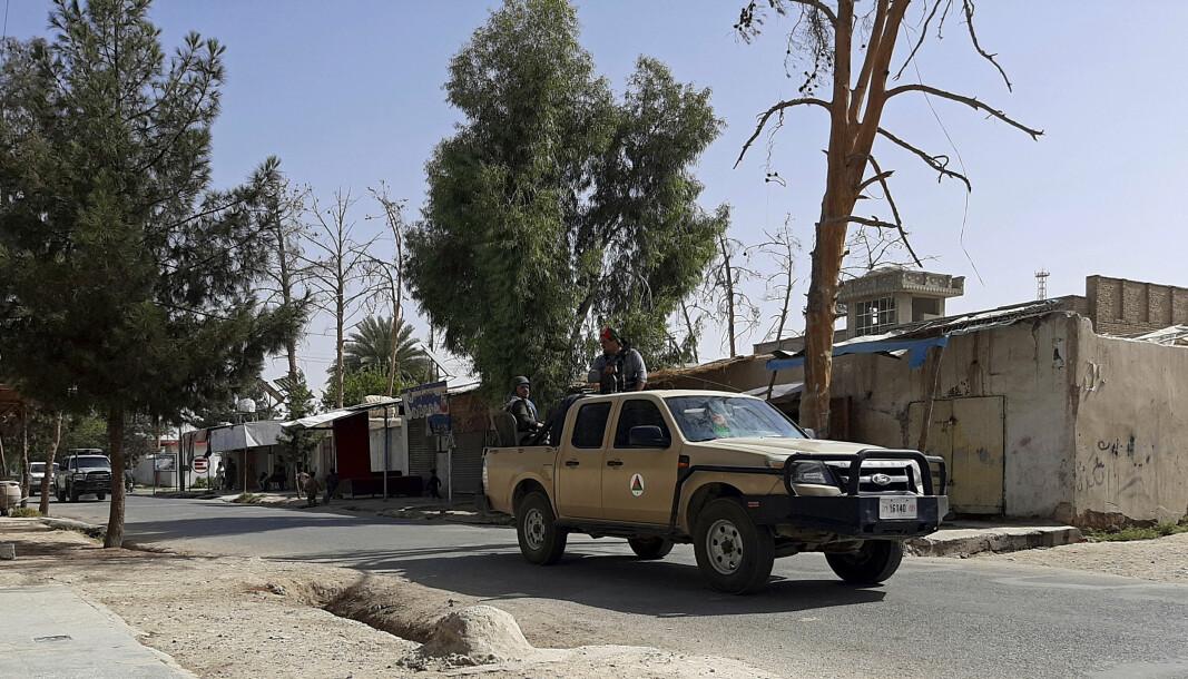 TALIBAN: Afghanske regjeringsstyrker ber innbyggerne i Lashkar Gah om å forlate byen, der Taliban i stor grad har tatt kontroll.
