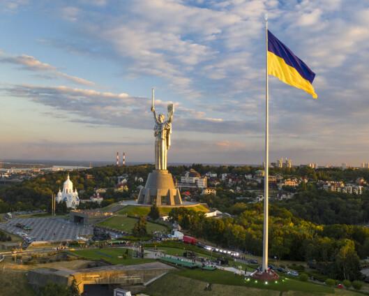 Mann med granat pågrepet i regjeringsbygning i Ukraina