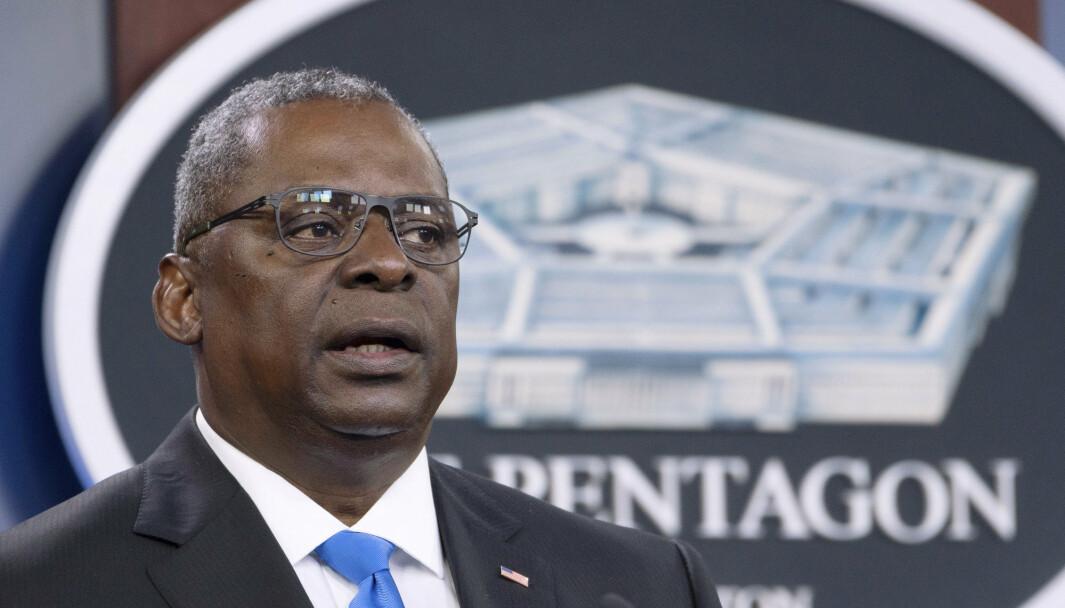 VAKSINE: Forsvarsminister Lloyd Austin fikk for en drøy uke siden beskjed av USAs president Joe Biden om å vurdere om koronavaksinen skal bli obligatorisk for de ansatte.