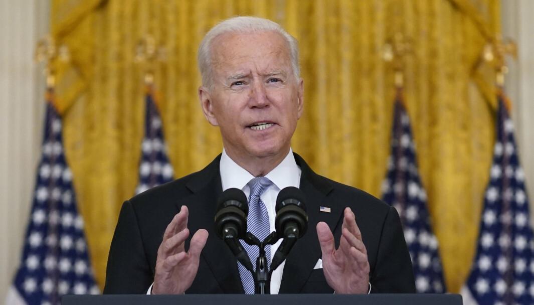 USA: President Joe Biden i en TV-sendt tale: USA vil handle raskt i Afghanistan hvis det er nødvendig for å hindre terrorhandlinger.