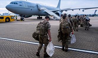 Britisk militærtopp: Risiko for at soldater må trekke seg fra evakuering