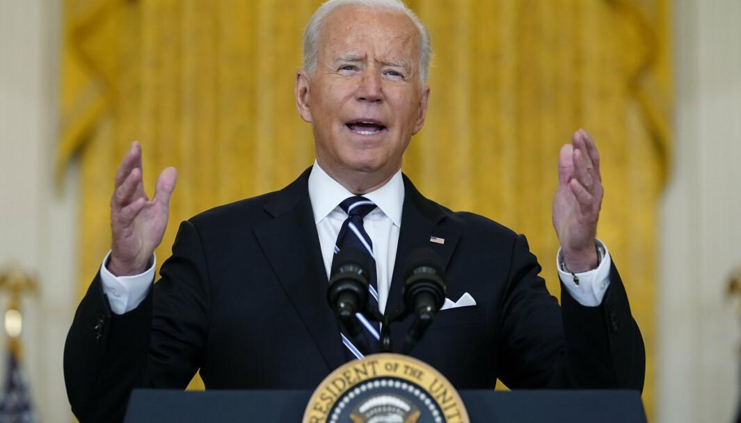 FORVENTET: USAs president Joe Biden tror det ville blitt kaos i Afghanistan uansett da USA trakk seg ut.