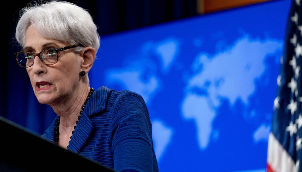 USAs viseutenriksminister Wendy Sherman anklager Taliban for løftebrudd.