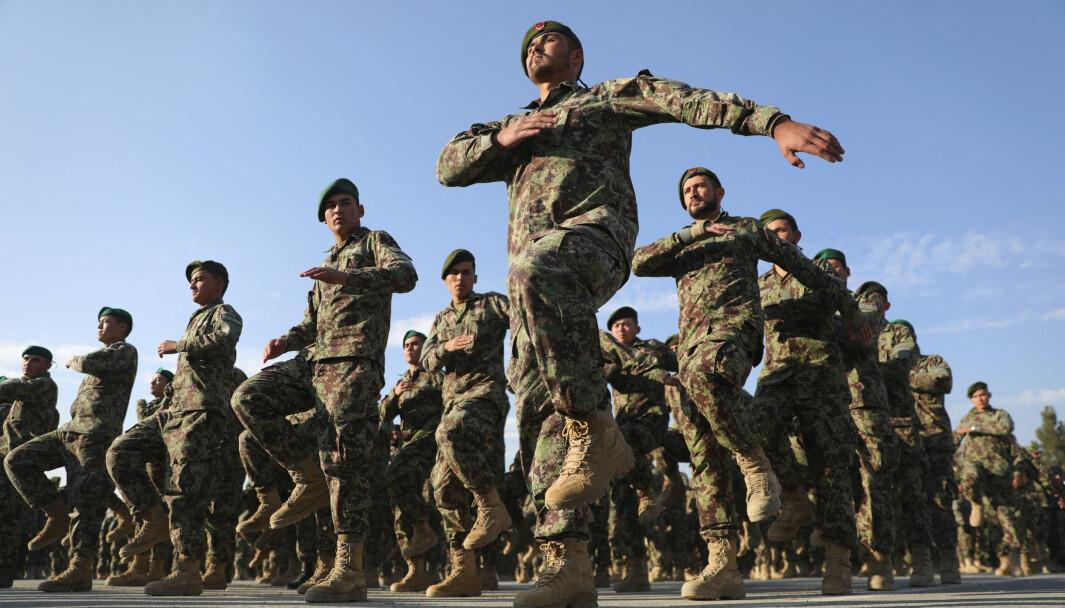 KOLLAPS: At det afghanske soldatene ikke valgte å ta opp kampen mot Taliban, var ikke så overraskende, skriver Tormod Heier. Her ser vi soldater i ANA (Afghan National Army) i 2020.