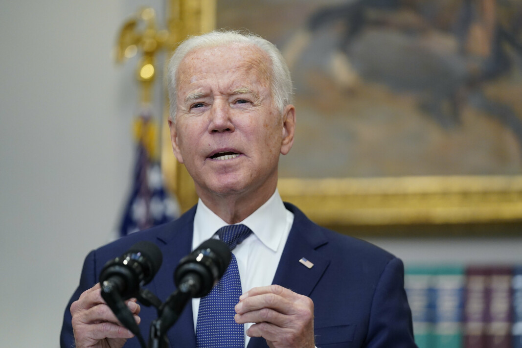 President Joe Biden under en TV-sendt tale søndag.
