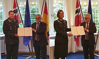 Tyske medaljer til to norske offiserer