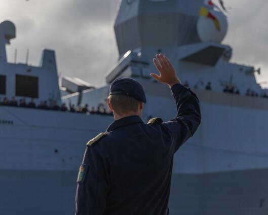 Norsk fregatt fullintegreres med amerikansk skipsstyrke for første gang