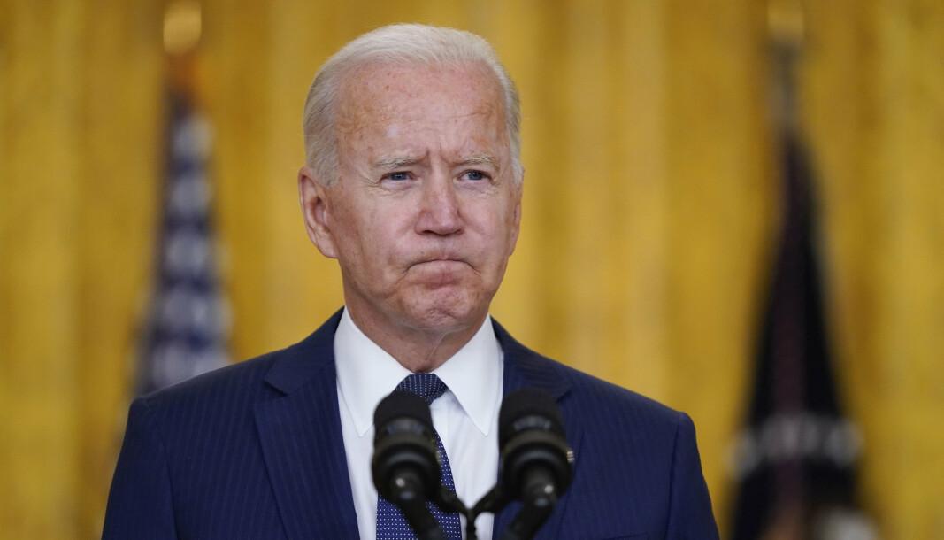 TORSDAG: USAs president Joe Biden var på talerstolen torsdag, for å snakke om bombingene i Kabul hvor flere amerikanske soldater ble drept.