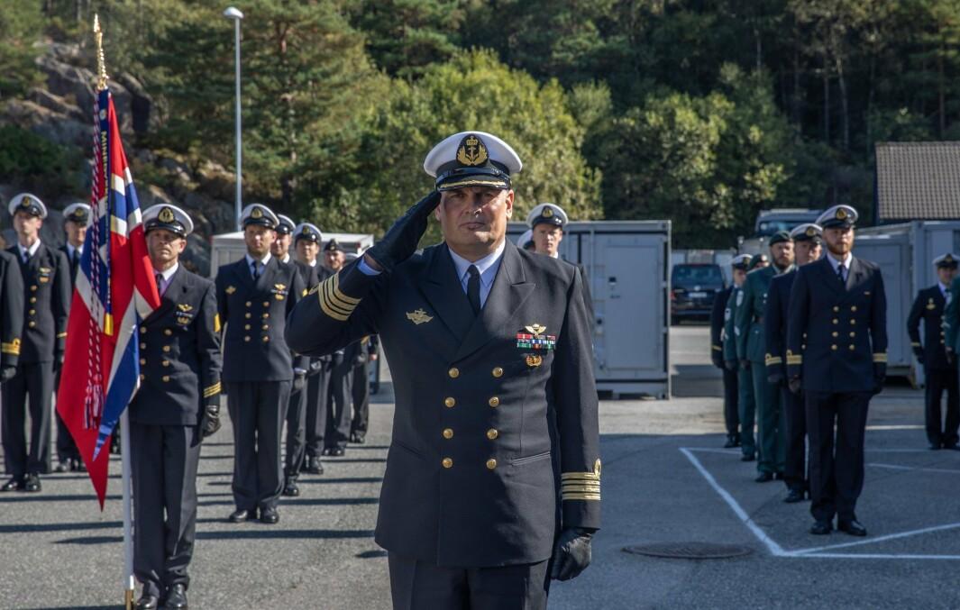 SJEFSBYTTE: Håvar Øie tok over kommandoen for Minedykkerkommandoen på mandag.