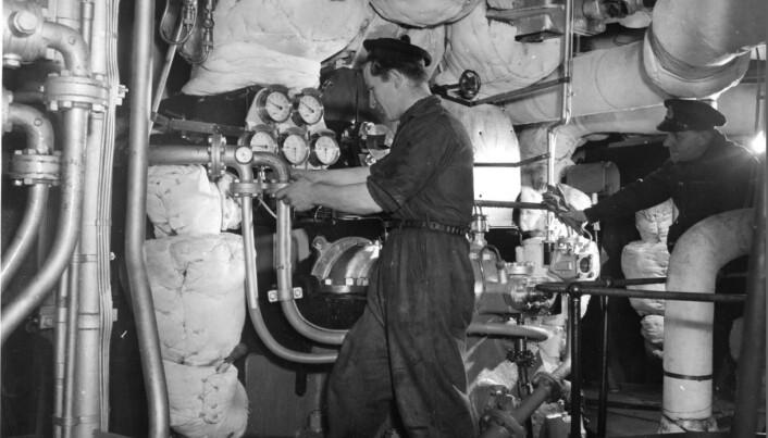 STORD: Bilde av Trygve Hansen da han tjenestegjorde på jageren Stord under krigen.
