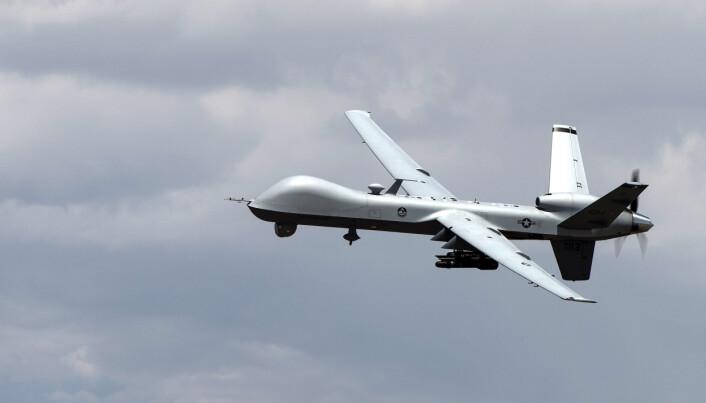 DRONE: MQ-9 Reaper droner utstyrt med Hellfire-missiler har blitt brukt i en rekke angrep mot antatte terrorister.