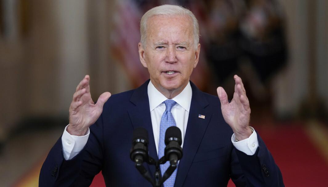 SUKSESS: I en tale president Joe Biden holdt fra Det hvite hus på tirsdag, kalte han evakueringen en suksess.
